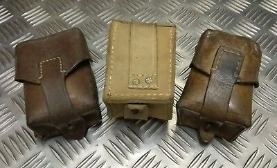 Genuine Vintage Military Issued Single Leather Ammo / Utility Small Pouch Used • 14.99£