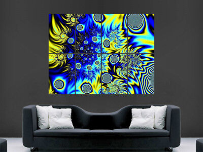 £17.99 • Buy Trippy Poster Abstract Giant Bright Wall Art Picture Print Large Huge