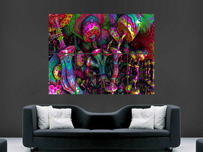 £17.99 • Buy Trippy Psychedelic Poster Picture Giant Wall Art Huge Image Graffiti Abstract