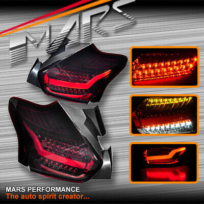 AU459.99 • Buy Smoked Red Full LED Tail Lights & Sequential Indicator For Ford Focus LZ 15-18