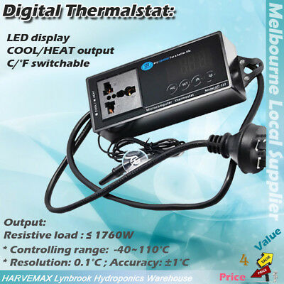 AU39.95 • Buy Hydroponics Temperature Fan Controller Thermostat Cooling Heating Thermo Control