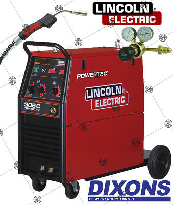 £1635 • Buy Lincoln Electric Powertec 305C Compact MIG Welder 300amp 3 Phase 400v Machine