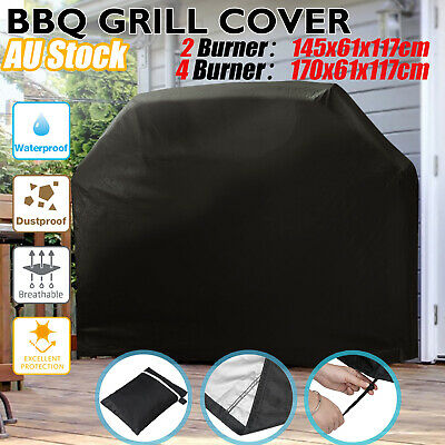 AU15.59 • Buy BBQ Cover 2/4 Burner Waterproof Outdoor UV Gas Charcoal Barbecue Grill Protector