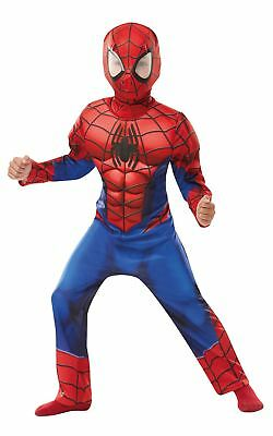 £19.98 • Buy Boys Deluxe Spiderman Costume Super Hero Fancy Dress Child Outfit