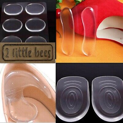 Silicone Gel Heel Pads Insoles Cushion Shields Support High Heels New Shoes  UK  • 2.75£