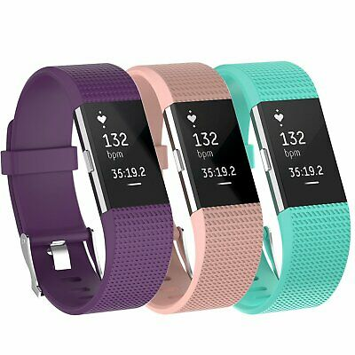 $ CDN8.81 • Buy 3 Pack Replacement  Band For Fitbit Charge 2 Small Bracelet Watch Rate Fitness