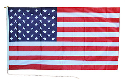 United States Of America USA 18  X 12  Heavy Duty Rope And Toggle Boat Flag • 12£