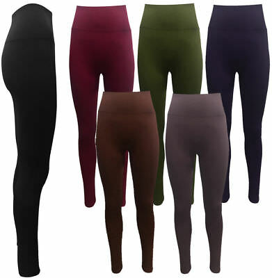 Ladies Womens High Waist Leggings Full Length Seamless Slimming Shapewear Leggy • 7.99£