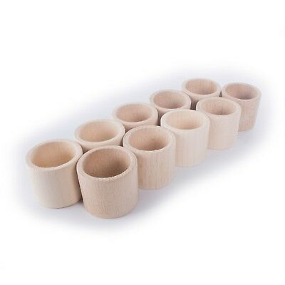 £10.49 • Buy Wooden FLAT Napkin Rings Holder / Party Decoration Crafts Decor / Beechwood