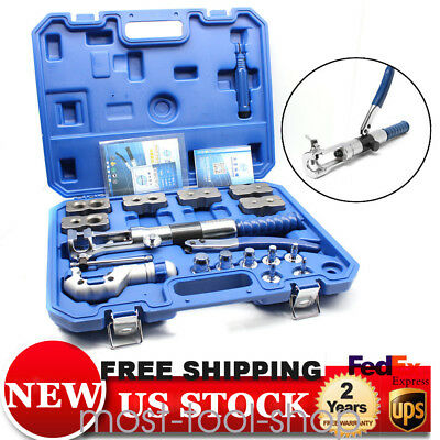18x Hydraulic Flaring Tool Set Kit Pipe Fuel Line Kit Expander+Cutter W/ Case • 337.28$
