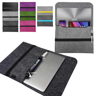 Laptop Felt Sleeve Case Cover Bag For Asus Notebooks VivoBook ZenBook ChromeBook • 4.95£