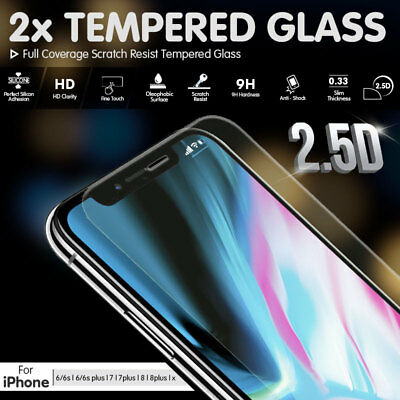 AU2.49 • Buy 2x Real Tempered Glass Screen Protector For Apple IPhone X 8 7 6 6S Plus Cover