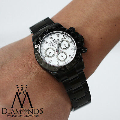 $ CDN24446.84 • Buy Exclusive Rolex Daytona 40mm Black PVD White Dial Oyster Bracelet - 116520
