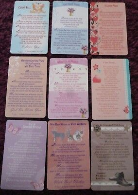 Keepsake Sentimental Wallet Card*love*birthday*wedding*get Well*mum*prayers • 1.58£