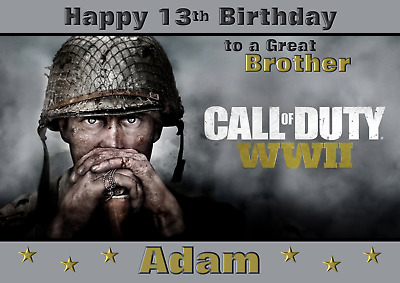 £2.99 • Buy Call Of Duty Personalised A5 Birthday Card Son Brother Nephew Grandson Name Age
