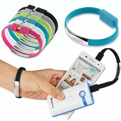 $0.81 • Buy 6 Colors Cable Bracelet Wristband Charger Charging Data Sync Cord Type-C USB 2.0