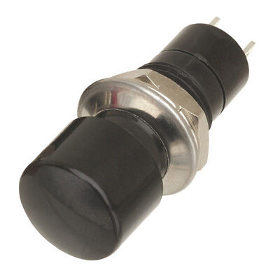 OFF-ON Push Button Latching Action Round Switch Black Red SW19 • 1.80£