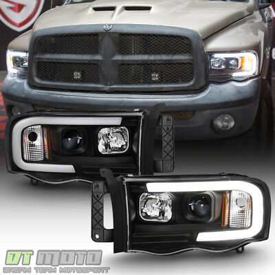 $218.99 • Buy Black 2002-2005 Dodge Ram 1500 2500 3500 LED Tube Projector Headlights Headlamps