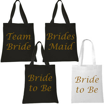 £2.99 • Buy Black With Gold Team Bride Tote Bag Hen Party Present Keepsake Girls Night Out