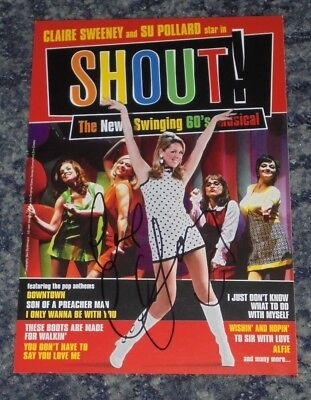 Claire Sweeney - Actress / Singer  . - Theatre Flyer  Signed-   (66) • 3.49£