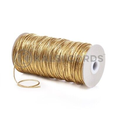 $ CDN5.18 • Buy 2mm THIN ROUND GOLD ELASTIC LUREX METALIC STRETCH CORD SWING TAGS GIFT WRAPPING
