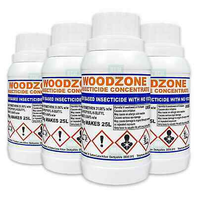 Woodzone 4 Woodworm Killer Timber Treatment Insecticide Fluid Spray -Makes 100L • 60.99£