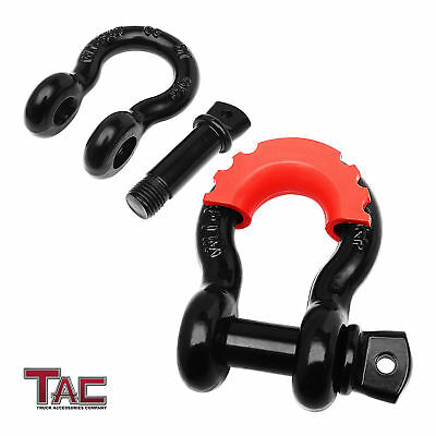 $10.79 • Buy 3/4  Black Shackle D-Ring Rugged Off Road Heavy Duty With Isolator 4.75 Ton 1PC