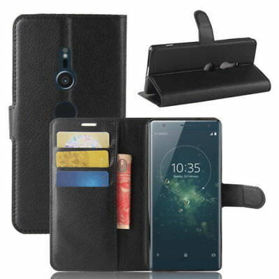 AU5.26 • Buy Fits SONY XPERIA XZ2 PU Leather Flip Case Cover Wallet Holder Book Side Open