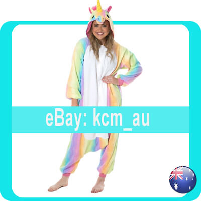 AU29.99 • Buy Rainbow Stars Mythical Unicorn Onsies Costume Kigurumi From Sydney Australia