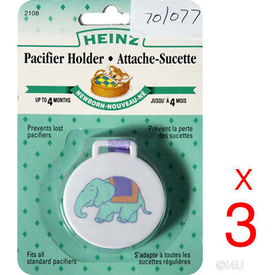 £2.49 • Buy 3 X Pacifier Holder Baby Born Dummy Clip Chain Strap Soother Clips Dummies