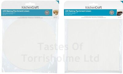 £6.25 • Buy Kitchen Craft 100 X Pre Cut Silicone Paper Baking Parchment Cake Tin Liners