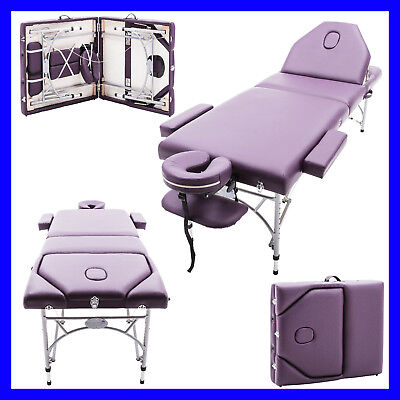 £129.99 • Buy PURPLE CAVERSHAM PORTABLE MASSAGE TABLE COUCH BEAUTY THERAPY BED REIKI 7cm SPA