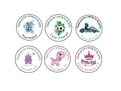 £3.40 • Buy Personalised GLOSS Birthday Stickers Thank You Sweet Cone Party Loot Bag Seals