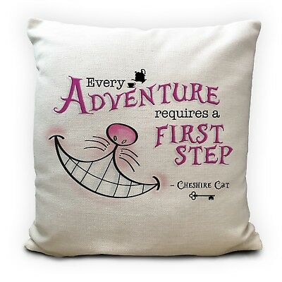 Alice In Wonderland Cushion Cover Cheshire Cat Every Adventure 16 Inches 40 Cm • 11.99£