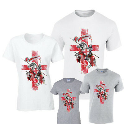 £5.99 • Buy St George TOP T-SHIRTMENS LADIES FIT Sport England English Football, Red Cross.