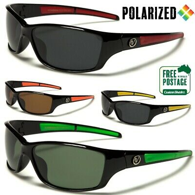 AU21.95 • Buy Nitrogen Polarized Sunglasses - Men's Wrap Around Frame - Polarised Lens