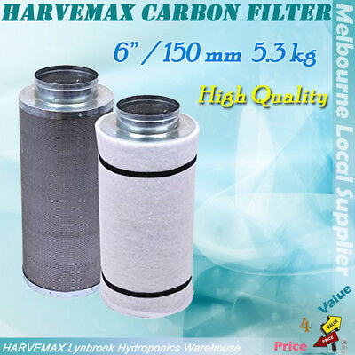 AU91 • Buy Hydroponics 6  /150mm Activated Carbon Filter For Grow Tent Duct Ventilation Fan