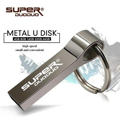*NEW* 16gb Waterproof Metal Keyring USB Flash Drive External Stick Pendrive. • 4.95£