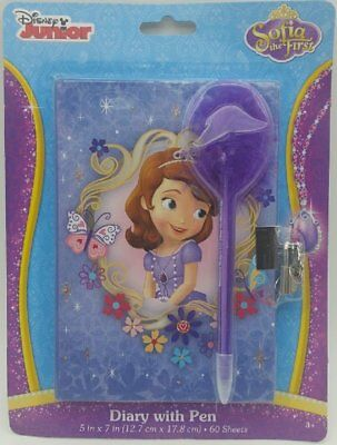 AU13.54 • Buy Sofia The First Diary With Marabou Pen, Lock And Key