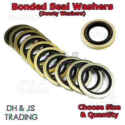 £1.89 • Buy Bonded Seal Washers - Dowty Sealing Washer Hydraulic Oil Petrol Sealing Washers