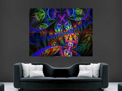 £17.99 • Buy Trippy Poster Psychedelic Fractal Picture Giant Wall Art Print