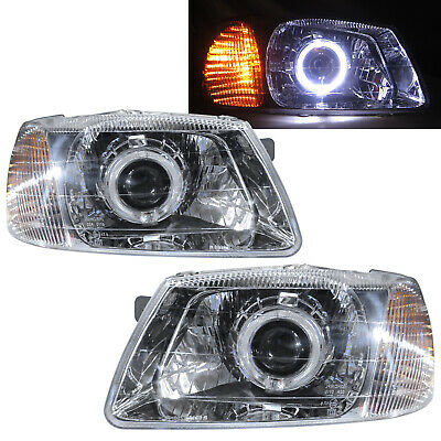$204.59 • Buy Accent/Verna LC MK2 99-03 4D CCFL Projector Headlight Chrome V2 For HYUNDAI LHD