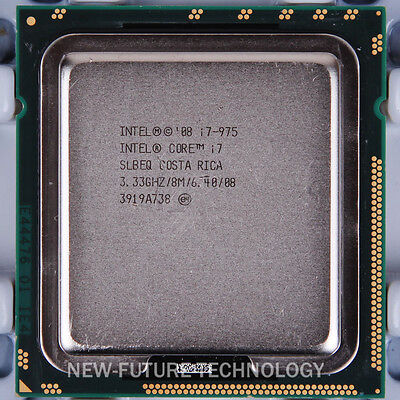 $ CDN65.53 • Buy Intel Core I7-975 Extreme Edition 3.33 GHz Quad-Core LGA 1366 CPU USA Free Ship