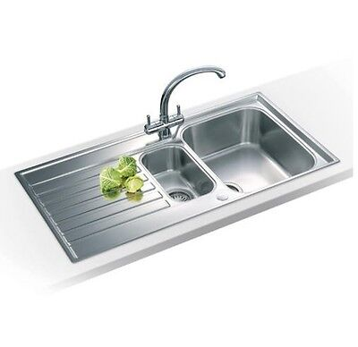 Franke Ascona ASX651 Reversible 1.5 Bowl Inset Stainless Steel Kitchen Sink (6T) • 154.99£