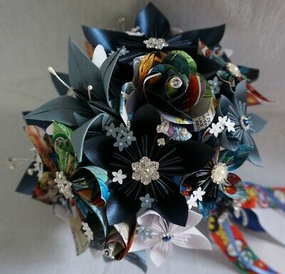 £65 • Buy Handmade To Order Paper Wedding Bouquets, Bridesmaid, Button Holes