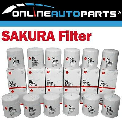 AU144.95 • Buy 12 Oil Filters Sakura C1112 (Z334) Suits Cruiser 1HZ 1HDT 4.2L 70 80 100 Series