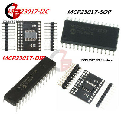 10PCS MCP23017-E//SO SOP-28 MCP23017 16-Bit I//O Expander with I2C Interface IC