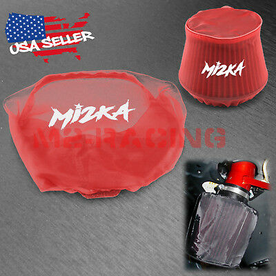 $14.88 • Buy Red Engine Cold Air Intake Pre Filter Conical Cover Water Repellent Washable