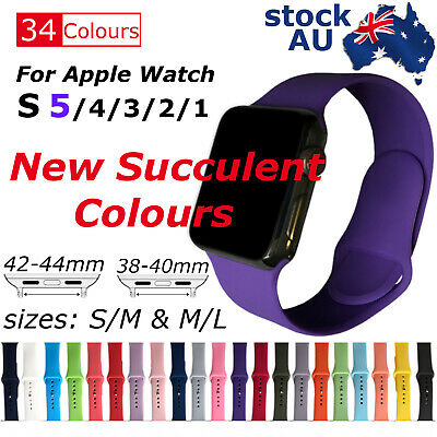 AU5.89 • Buy Sports Silicone Bracelet Strap Band For Apple IWatch Series 5_4_3_2, 38/42mm NEW