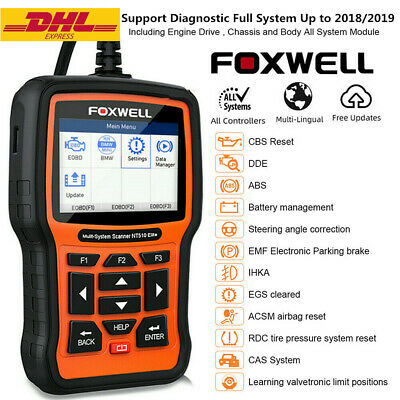 OBD2 Car Scanner Full System ABS SRS SAS EPB DPF TPMS Oil Reset Diagnostic Tool • 159$